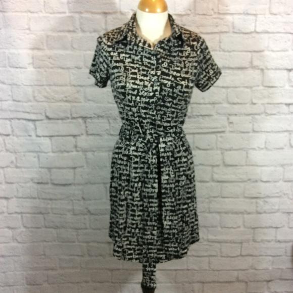 Vfish Dresses Nordstrom Black White Script Dress Poshmark